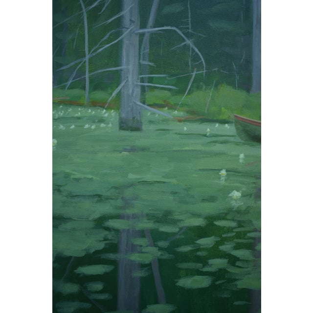 """Green """"Awestruck"""", Contemporary Large (60"""" X 48"""") Painting by Stephen Remick For Sale - Image 8 of 13"""