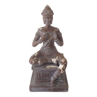 Early 20th Century Vintage Cambodian Deity Figurine For Sale