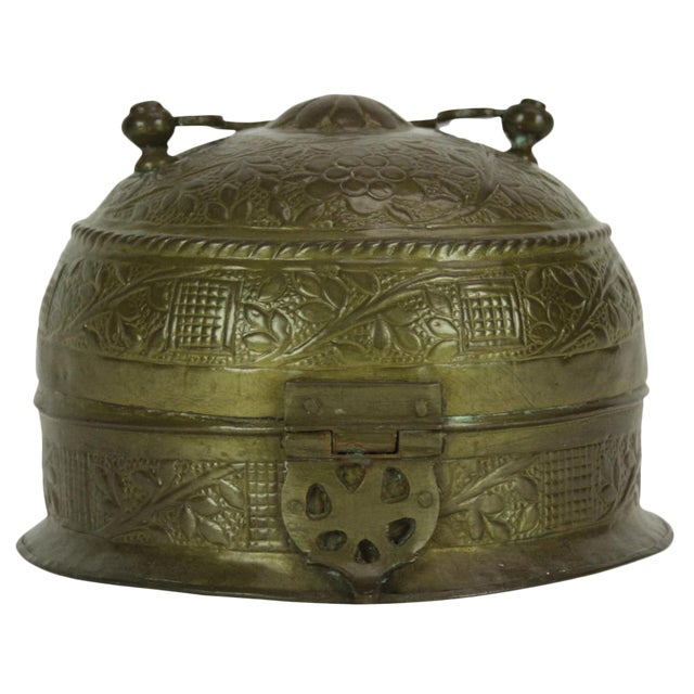 Brass Pandan Box For Sale