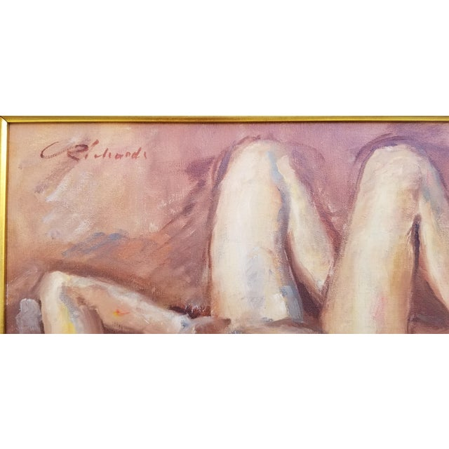 1970s Abstract Nude Female Figure Painting For Sale In Miami - Image 6 of 13