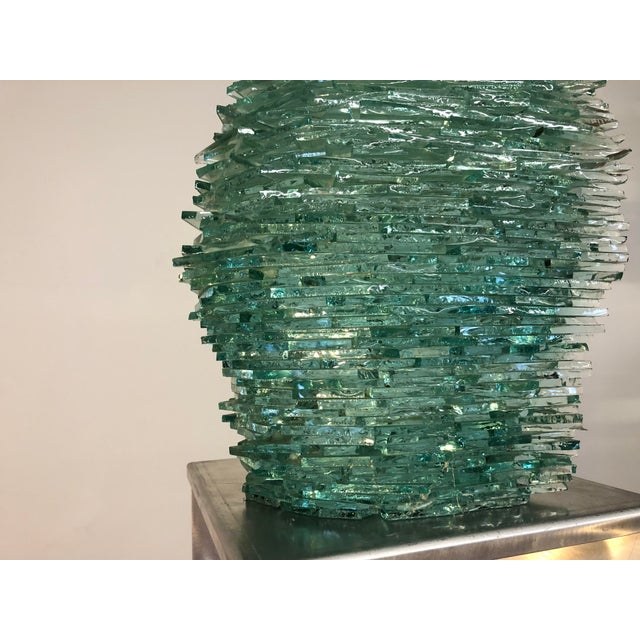 Late 20th Century Large Modern Fractured Glass Sculpture For Sale In Seattle - Image 6 of 10