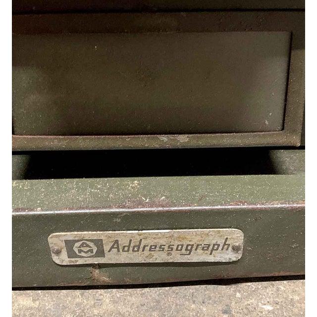 Vintage Addressograph Filing Cabinet For Sale - Image 4 of 9