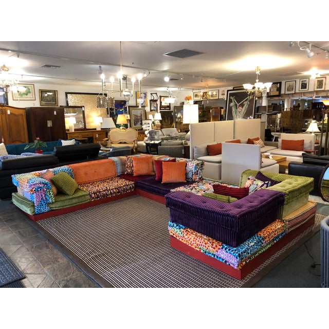 Abstract Missoni Mah Jong Sectional by Roche Bobois For Sale - Image 3 of 13