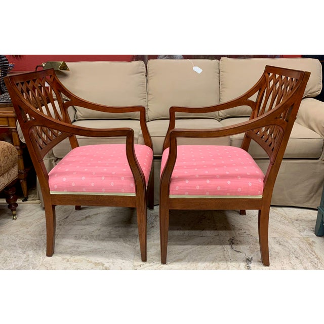 1990s 1990s Vintage Baker Williamsburg Collection Armchairs - A Pair For Sale - Image 5 of 12