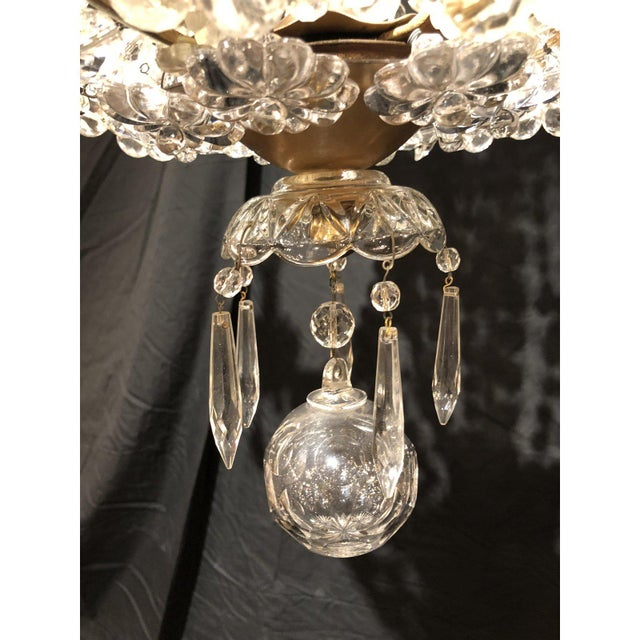 French 1920's French Antique Louis XVI Style Signed Baccarat Chandelier For Sale - Image 3 of 6