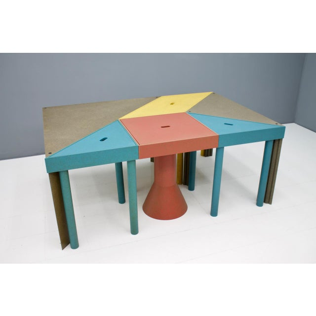 Wood Set of Six Tangram Tables by Massimo Morozzi for Cassina, 1983 For Sale - Image 7 of 11