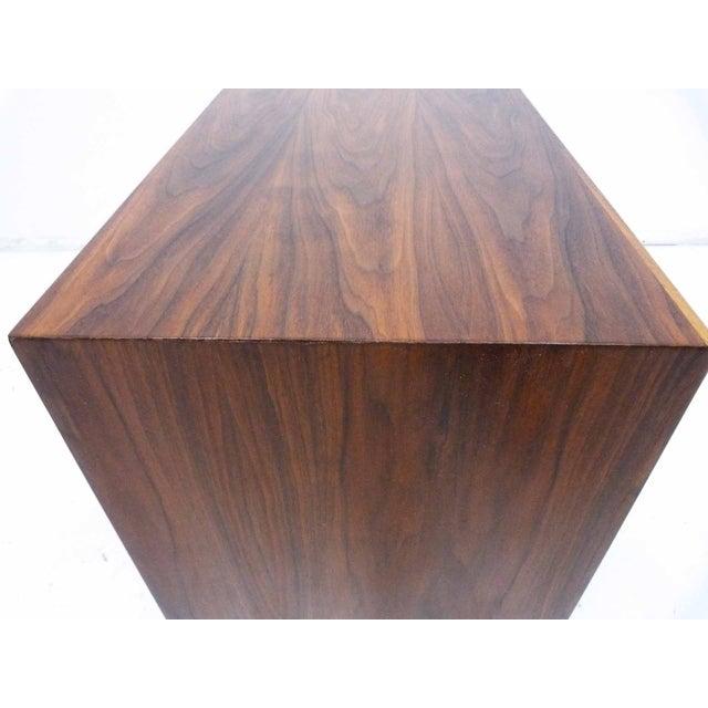 Walnut Three-Drawer Bachelor Dresser Chest - Image 10 of 10