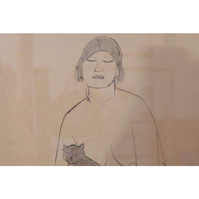 Illustration Three Lovely Watercolors by Maurice Sterne For Sale - Image 3 of 10