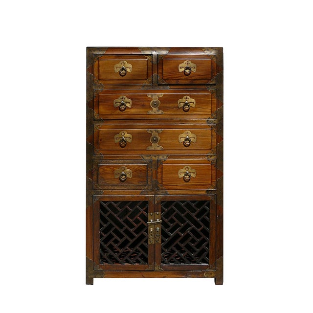 Korean Brass Hardware Accent Dresser - Image 1 of 5