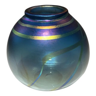 Vintage Elaine Hyde Art Glass Vase For Sale