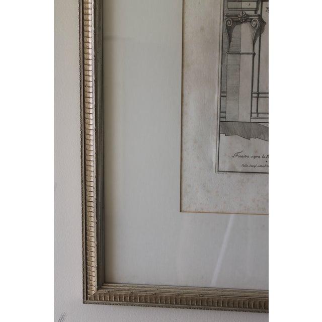 White Early 19th Century Antique Finestra Sopra La Porta Architectual Print For Sale - Image 8 of 10