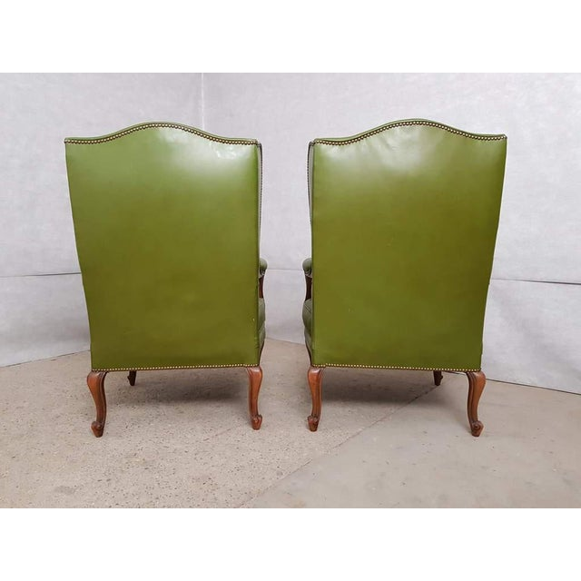 Vintage Mid 20th. C. Queen Anne Style Wing Sofa and 2 Wing Armchairs Suite For Sale In New York - Image 6 of 13
