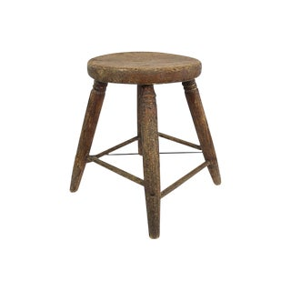 Antique Wood Stool For Sale