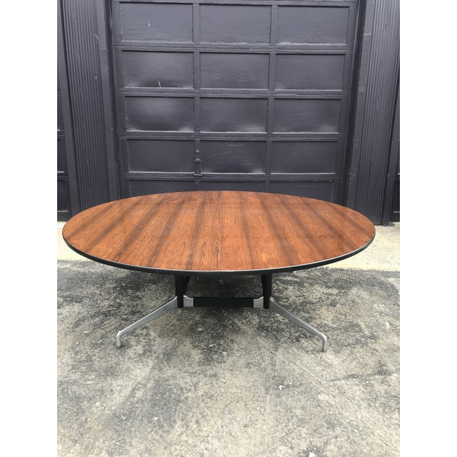 """78""""d Eames Herman Miller Rosewood Conference Table For Sale - Image 12 of 12"""
