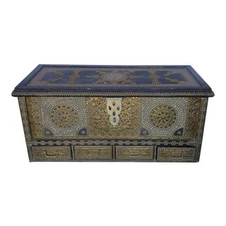 1980s Moroccan Chest / Coffee Table For Sale