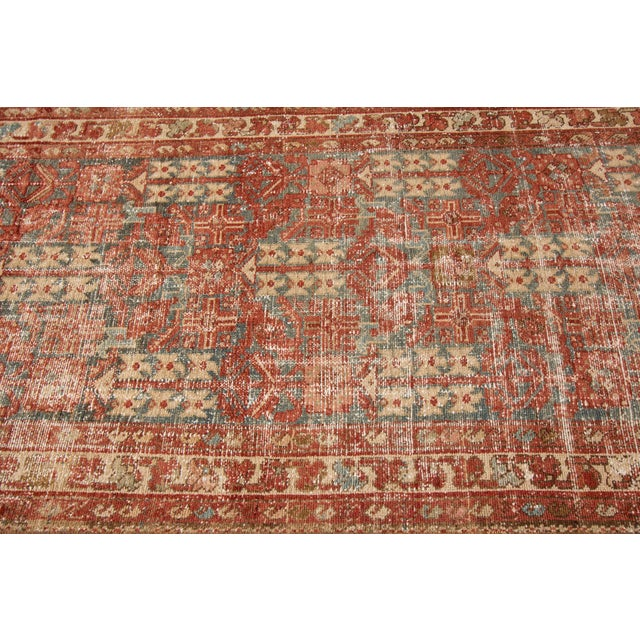 "Apadana-Antique Persian Distressed Rug, 3'4"" X 13'7"" For Sale - Image 10 of 11"