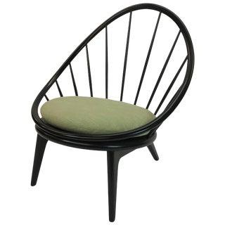 Vintage Mid Century Ib Kofod-Larsen Spindle Back Peacock Hoop Lounge Chair For Sale