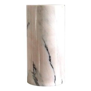 C. 1970s Italian Alabaster Cylinder Lamp For Sale