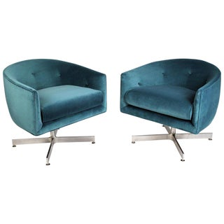 Milo Baughman Tilt and Swivel Lounge Chairs for Thayer Coggin For Sale