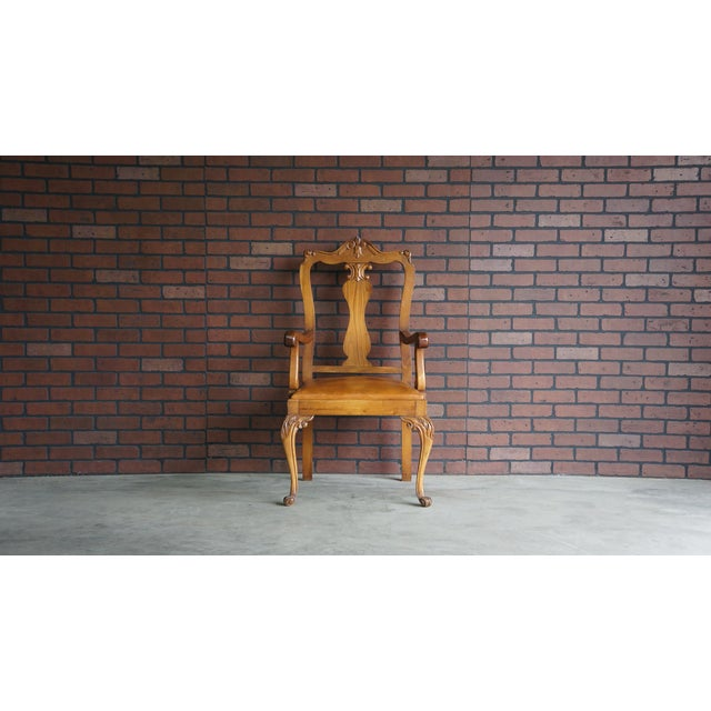 Early 20th Century Antique French Provincial Carved Arm Chair For Sale - Image 9 of 9