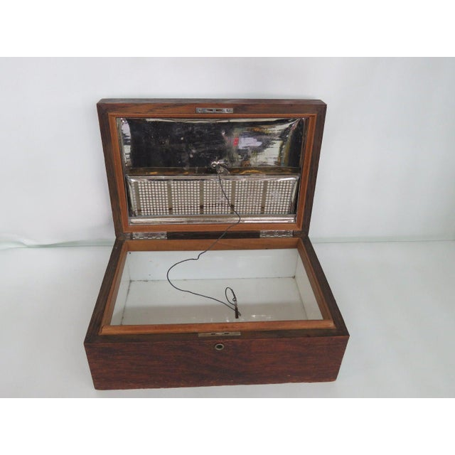 Early 1900s Oak Tabletop Cigar Tobacco Humidor Chest Box For Sale - Image 9 of 11
