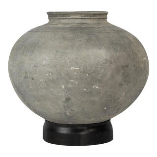 Chinese Mud Pot With Base For Sale