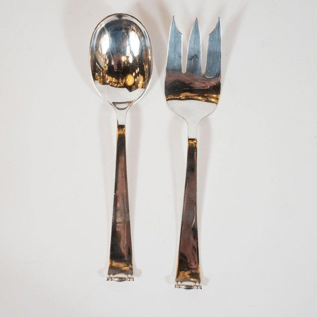 Allan Adler Sterling Sliver Modern Georgian Hand Wrought Flatware Service for 24 For Sale - Image 11 of 13