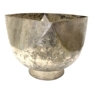 Ward Bennet Silver Plated Bowl For Sale