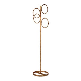 Gilded Floor Towel Holder For Sale