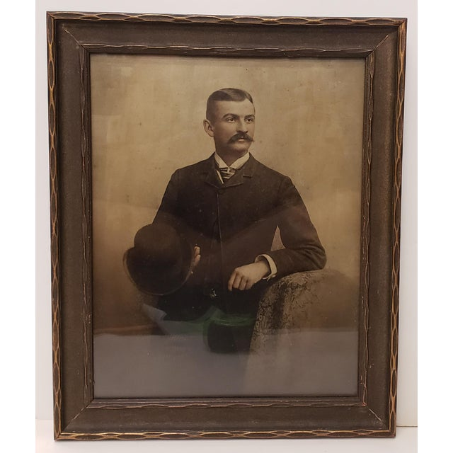 Circa 1920 Framed Portrait Photograph of Gentleman by Ewing Inc. Photographers For Sale - Image 4 of 4