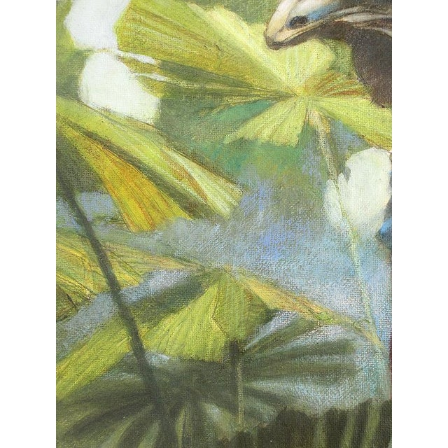 "Ute Simon ""Cassowary"" Jungle Bird Painting - Image 4 of 6"