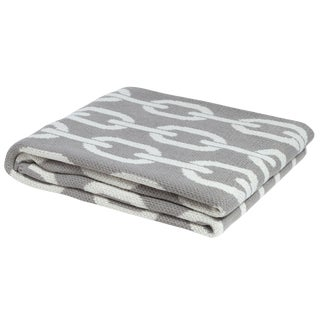 Eco Poly Links Cargo & Ivory Throw For Sale