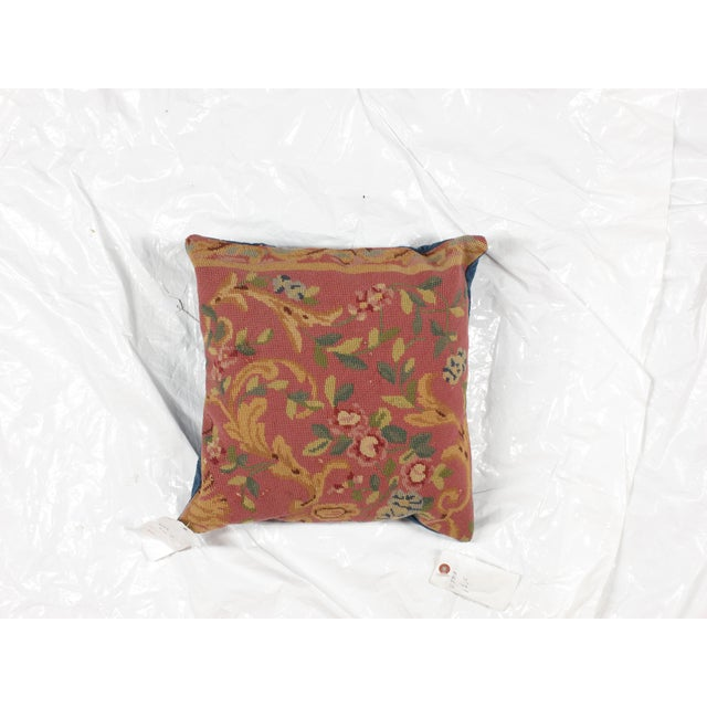 "Leon Banilivi Aubusson Pillow - 1'6"" X 1'6"" - Image 4 of 5"