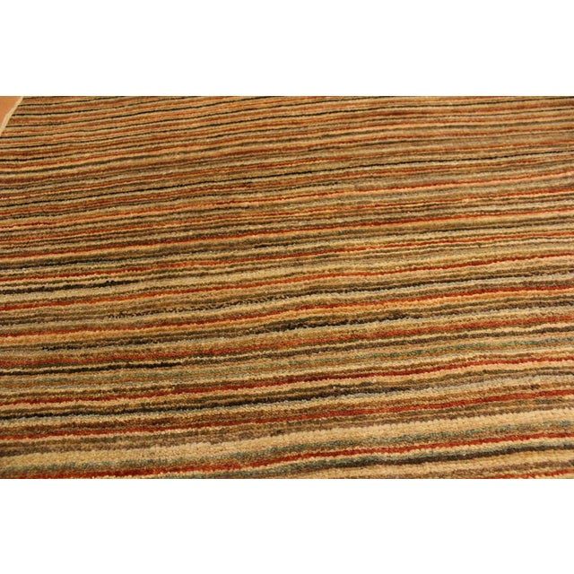 2000s Gabbeh Peshawar Nereida Tan/Rust Hand-Knotted Wool Rug -3'1 X 5'1 For Sale - Image 5 of 8
