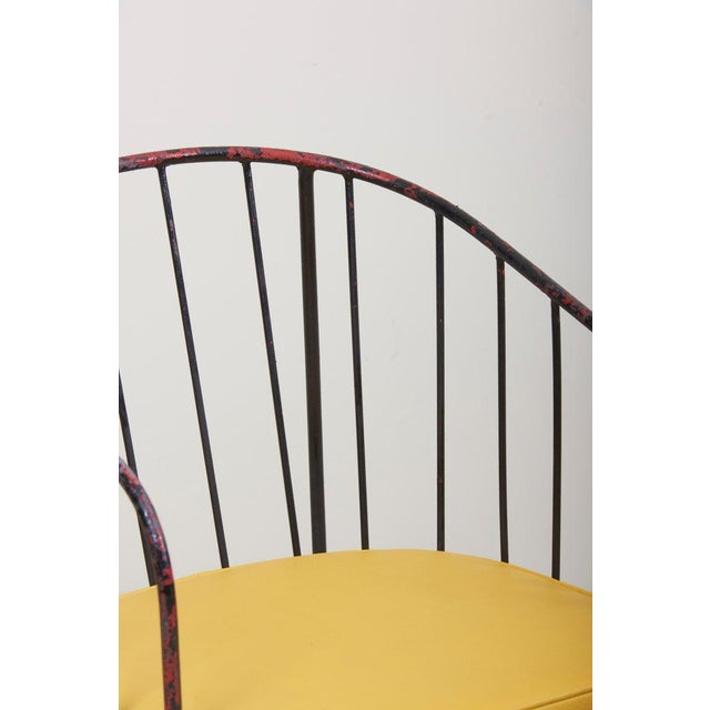 Set of Four Iron Rod Outdoor Chairs by George Nelson for Arbuck, 1950s For Sale - Image 6 of 13