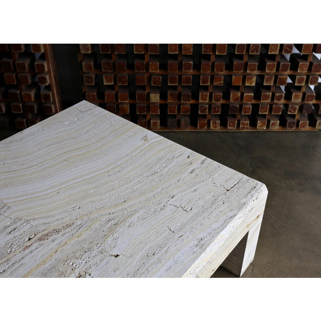 Travertine Coffee Table Circa 1980 For Sale - Image 12 of 13