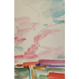 Jose Trujillo New Western Signed Original Watercolor Painting Study For Sale