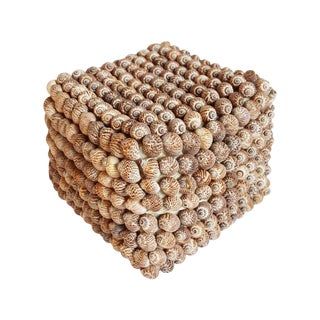Shell Covered Storage Box For Sale