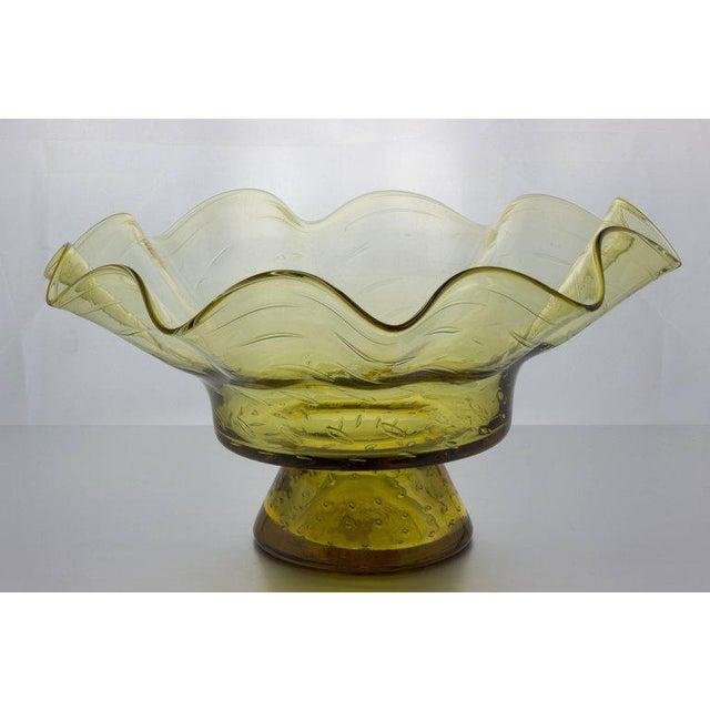 Ruffled Shape Blenko Bowl - Image 9 of 10