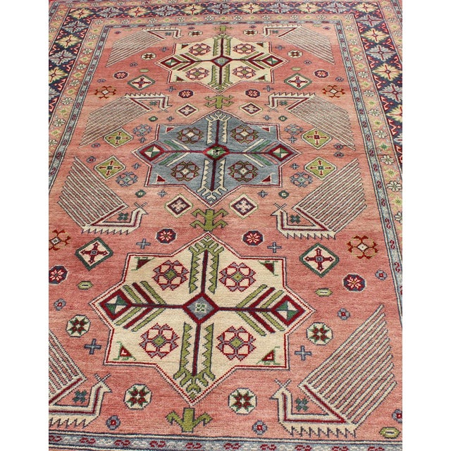 1950s Semi Antique Afshar Rug - 4′ × 6′ For Sale - Image 10 of 12