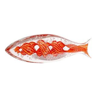 Alberto Dona Red Murano Glass Fish Sculpture For Sale