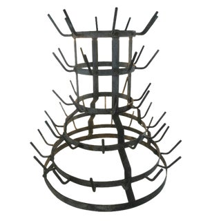 19th Century French Zinc Bottle Drying Rack For Sale