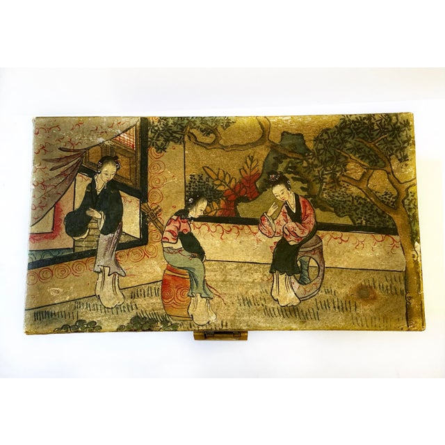 Chinese Qing Dynasty Pigskin Box For Sale - Image 11 of 13
