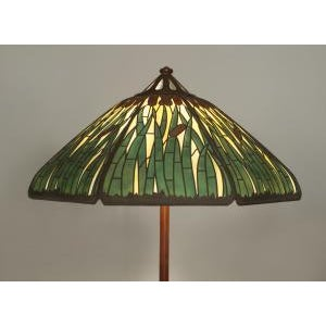 Mid 20th Century American Mission Bronze Floor Lamp For Sale - Image 4 of 11