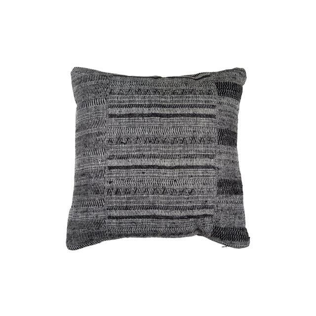 2010s Indian Handwoven Textile Pillow For Sale - Image 5 of 5