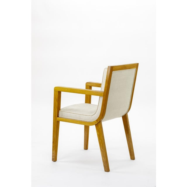 Maxime Old pair of refined oak arm chairs