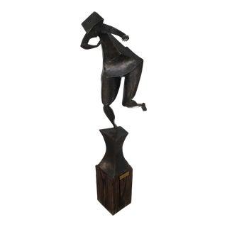 Mid Century Modern Steel Sculpture -- by Artist Dennis Jones For Sale