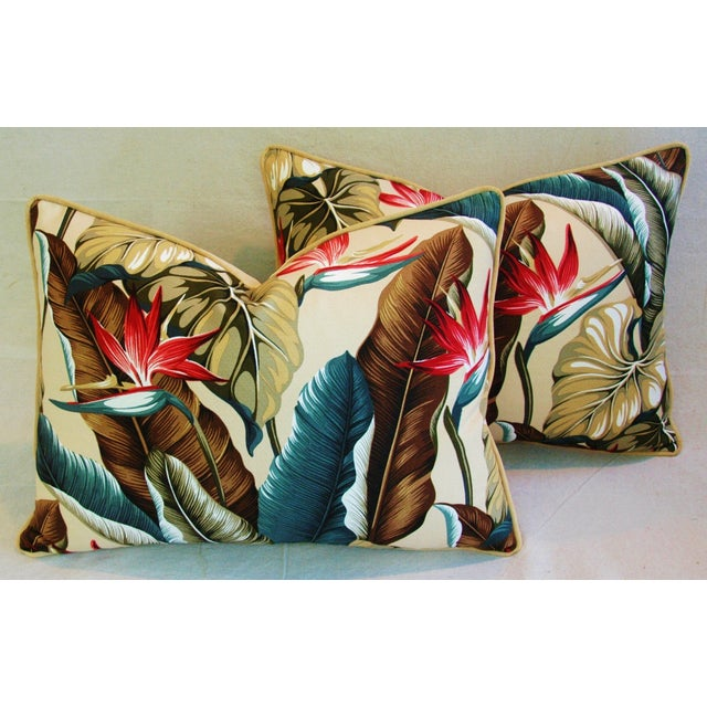 Custom Tropical Bird of Paradise Pillows - A Pair - Image 3 of 11