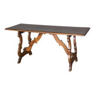 Antique 18th Century Italian Walnut Table For Sale