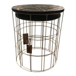Boho Chic Global Archive Collection Nesting Side Tables - 2 Pieces For Sale